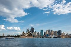 Sydney Harbour Landscape from Kirribilli. Sydney Skyline, NSW, Australia - September 28, 2018: View of Sydney CBD and the Opera House on a beautiful sunny day royalty free stock photo