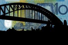 Sydney harbour mostu royalty ilustracja