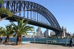 Sydney harbour mostu Obrazy Royalty Free