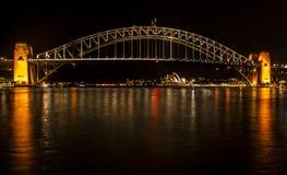Sydney Harbour - Nachtphotographie Lizenzfreies Stockfoto