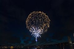 Sydney Harbour New Year Eve Fireworks Royalty Free Stock Photos