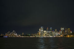 Sydney harbour by night in australia Stock Photo