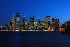 Sydney harbour at night Stock Photos