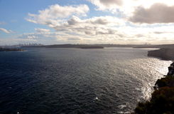 Sydney Harbour ocean water wide panoramic view Royalty Free Stock Photography