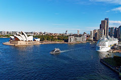 Sydney Harbour and Opera House, Australia Royalty Free Stock Images