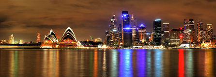 Sydney Harbour with Opera House and Bridge Royalty Free Stock Photo