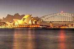 Sydney Harbour with Opera House and Bridge Stock Image