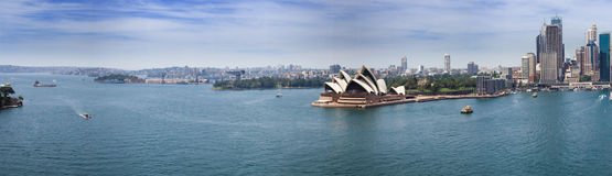 Sydney harbour panorama Royalty Free Stock Photos