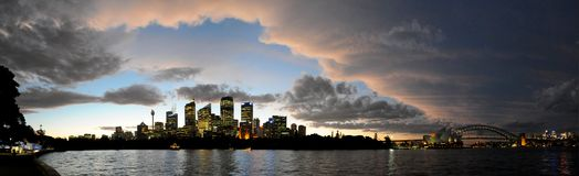 Sydney Harbour Panorama. Panoramic view of Sydney City and Harbour Royalty Free Stock Photo