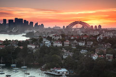 Sydney  harbour panorama Royalty Free Stock Photography