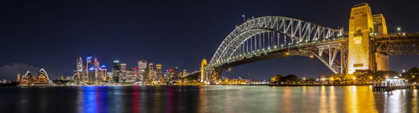 Sydney Harbour Panorama Imagem de Stock Royalty Free