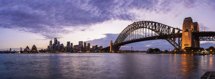 Sydney Harbour Panorama Photographie stock