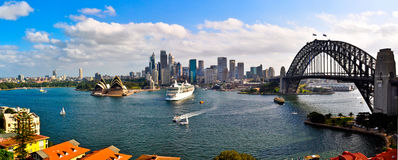 Sydney Harbour Panorama Foto de Stock Royalty Free