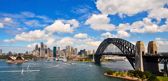 Sydney Harbour Panorama Royalty-vrije Stock Foto's
