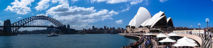 Sydney Harbour Panorama Stock Photography