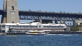 Sydney Harbour, Pier 1, a thriving restaurant hub nestled on the shores of Sydney Harbour, Sydney, NSW, Australia. Sydney harbour pier thriving restaurant hub royalty free stock photo