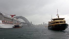 Sydney Harbour in the Rain Stock Photo