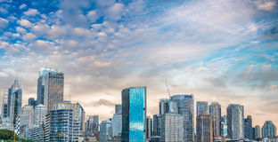 Sydney Harbour skyline at dusk, Australia.  Stock Photo