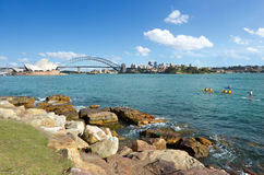 Sydney Harbour-Skyline Sydney New South Wales Australia Stockbilder