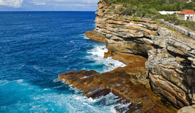 Sydney Harbour South Head. The rugged coast line of the Gap, Sydney Harbour South Head, Sydney, Australia Stock Photography