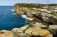 Sydney Harbour South Head. The rugged coast line of the Gap, Sydney Harbour South Head, Sydney, Australia Stock Images