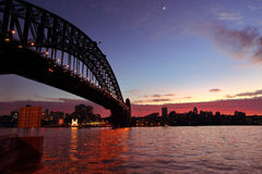 Sydney Harbour Sunrise lizenzfreie stockbilder