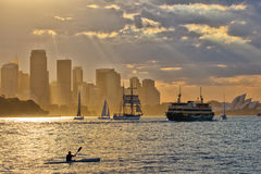 Sydney Harbour Sunset Foto de Stock Royalty Free