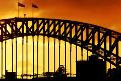 Sydney Harbour Sunset. Sydney Harbour Bridge at sunset
