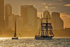 Sydney harbour sunset royalty free stock photos