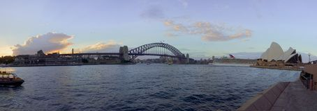 Sydney harbour at sunset Stock Image
