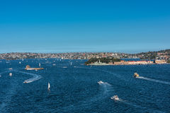 Sydney Harbour Sydney Australia. Is beautiful meandering waterway,famous around the word Royalty Free Stock Photo