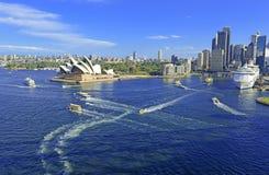 Sydney Harbour, Sydney Australia. Sydney Harbour with City Skyline, Sydney, Australia Royalty Free Stock Image