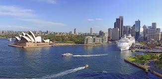 Sydney Harbour, Sydney Australia. Sydney Harbour with City Skyline, Sydney, Australia Stock Photo