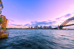Sydney Harbour Sydney Australia. View of Sydney Harbour Sydney Australia at sunset from Milsons Point. Oct 06,2016  Sydney Harbour Sydney Australia is beautiful Stock Images