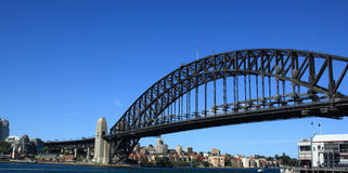 Sydney Harbour and Sydney Harbour Bridge. View of Sydney Harbour, Sydney Harbour Bridge and the city of Sydney from Milson's Point Royalty Free Stock Photography