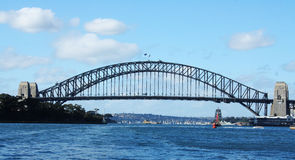Sydney Harbour and Sydney Harbour Bridge Royalty Free Stock Photo