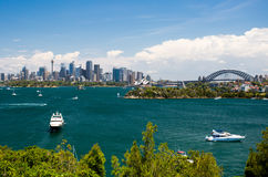 Sydney Harbour from Taronga Zoo Stock Photo