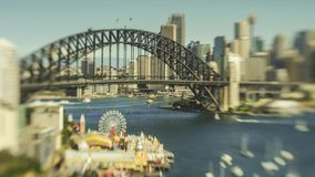 Sydney Harbour tilt shift timelapse stock video