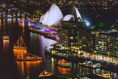 Sydney Harbour und das Opernhaus während der NYE-Feiern a stockfoto