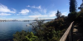 Sydney Harbour von Vaucluse Stockfotos