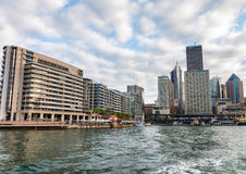Sydney Harbour waterfront buildings, Australia Royalty Free Stock Images