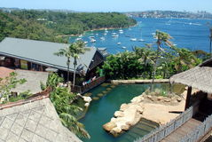 Sydney Harbour and Zoo. Sydney Harbour view over Taronga Park Zoo in the foreground Stock Photo