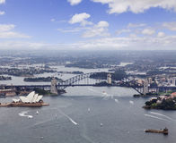 Sydney Helicopter Bridge Opera Stock Photos