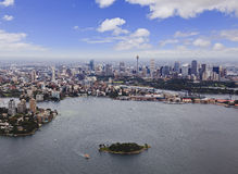 Sydney Helicopter CBD Island Stock Photos