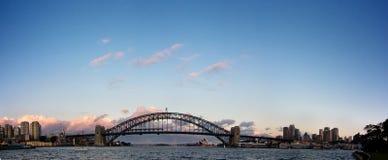 Sydney - het Panorama van de Horizon van de Nacht stock foto