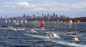 Sydney Hobart Yacht Race 2012 Images stock