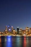 Sydney - horizonte de la noche fotos de archivo