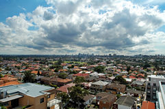 Sydney housing. Photo taken from Maroubra Junction, dramatic sky Stock Photo