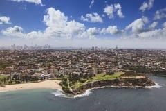 Sydney-Hubschrauber Bondi rechter Himmel Stockbild