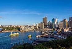 Sydney im Stadtzentrum gelegen stockbild